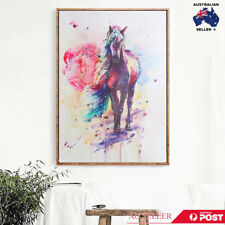 Watercolour Painting Horse Canvas Unframed Picture Print Wall Art Home Decor AU