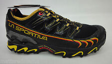 La Sportiva Mens Ultra Raptor Mountain Running Shoes 16U Black/Yellow 46