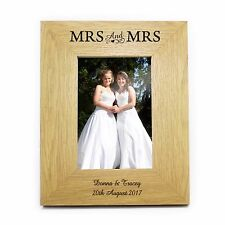 Personalised 4x6 Wooden Oak Veneer Wooden Photo Frame Choice of Designs Gift