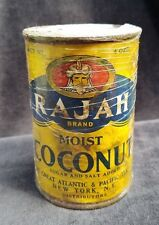 Old Advertising Tin RAJAH Coconut Great Atlantic & Pacific Tea NY New Old Stock