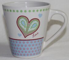 LOVE HEART MUG design - NEW - 12oz 355mL water coffee/tea cup gift home/office C