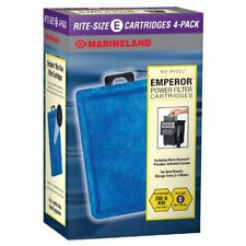 Marineland Emperor Power Filter Cartridge Rite-Size E, 4 Count, Replacement