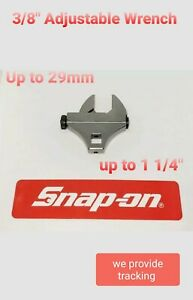 """NEW Snap On Tools adjustable crowfoot wrench (0-29MM)( 0-1.14"""") 3/8"""" DRIVE,ADCF8"""