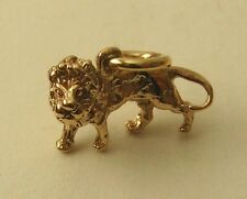 GENUINE SOLID 9K 9ct Yellow Gold 3D LEO ZODIAC SIGN KING LION CHARM/PENDANT