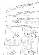 1955 1956 1957 1958 1959 GMC G.M.C. TRUCK BODY PART NUMBER LIST CRASH SHEETS! RE