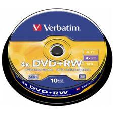 10 DVD+RW vierge Verbatim 4x certifié, en cake box - 43488