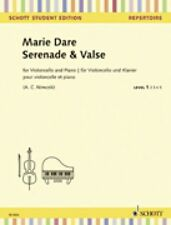 Serenade and Valse Cello and Piano String Solo Book NEW Schott 049045784