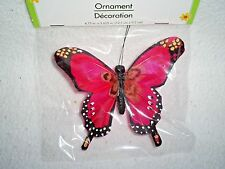 "4.5"" Wide.x3.5"" Tall Fuchsia w/Black Trim Pinch Clip Butterfly"