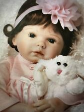 "Paradise Galleries Reborn Silicone Vinyl Baby Doll ""Bunny Love"" - 21"" NIB"