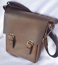 Vintage Real VEG TANNED Leather Postman Bag Indiana Jones, Handmade Medium size