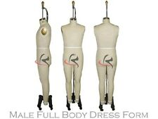 Professional Working Dress form, Male Mannequin,Full Size 38, w/Legs