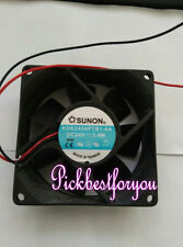 1pc Sunon KDE2408PTB1-6A fan 80*80*25mm 24V 3.4W 2wrie #MG35 QL