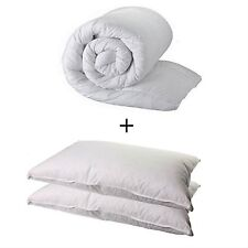 KING SIZE duvet quilt e 2 cuscini-King 10,5 TOG superset di qualità e 2 CUSCINI