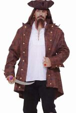 Pirate Costume Buccaneer Adult Shirt and Rogue Jacket- Plus Size 3XL XXXL - Fast