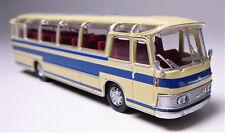 H0 BREKINA Starline Neoplan Saurer NS 12 PTT Reisebus elfenbein blau # 58233