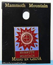 MAMMOTH MOUNTAIN SKI PIN - SNOWFLAKE,SUN,PINS,BADGE,SKIING,LAPEL - BLUE/PINK/RED