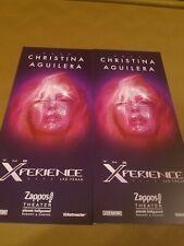 2x Christina Aguilera The Xperience Las Vegas Residency Show Flyer