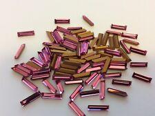 Baguette Rhinestone Rose  10x3mm Pack of 12 First Quality REPAIR Post Free