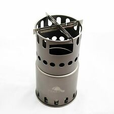 TOAKS Titanium Wood Stove with 2 Cross Bars (STV-11-S2)