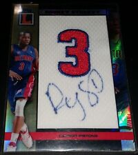 Rodney Stuckey 2007-08 Topps Letterman AUTOGRAPHED JERSEY NUMBER PATCH RC #09/19