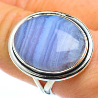 Blue Lace Agate 925 Sterling Silver Ring Size 9 Ana Co Jewelry R45562F