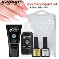Polygel Constructeur dur gel Set Nail Extension vernis polonais Rapide UV LED FR