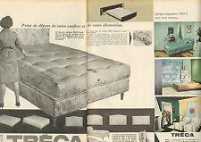 Publicité 1964  (Double page)  TRECA literie sommier matelas