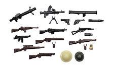 BrickArms WW2 WWII Alliierten Waffenset, Custom Waffen für LEGO® Figuren