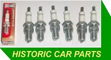 Six Spark Plugs for Jaguar E Type Series 1 2  4.2 1964-71 replaces CHAMPION N11