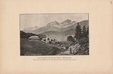 Bei St. Moritz und der Albina Oberengadin DRUCK von 1895 Schweiz