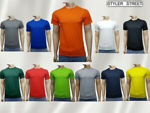 Men's Summer Plain T-shirt 100% Cotton