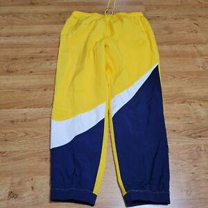 Nike Sportswear Woven Jogger Pants Swoosh Yellow AR9894-728 MENS SIZE XXL