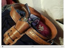 Classic 1880's Style Belt & Holster To Fit Denix Colt 45 Revolver Made To Order
