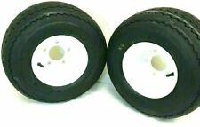 TWO- 18x8.50-8 Golf Tires 5 LUG Wheels Golf Cart Carts Taylor Dunn EzGo Cushman