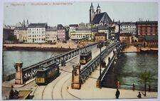 AK Magdeburg Strombrücke und Johanniskirche gelaufen um 1908 nach Dessau
