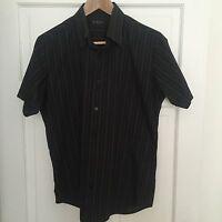 Men's Medium Burton Black Striped Vintage Shirt