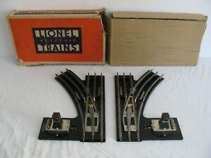 Prewar Lionel Trains Standard Gauge Electric Right & Left Switches #223 EX