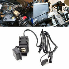 For Phone Tablet Dual Ports SAE To USB Cable Adaptor Motorcycle Charger Socket