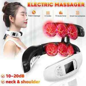 Electric Cervical Neck Massager Non-Vibrating Shoulder Heating Pain Relief Relax