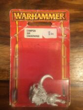 Chaos Dwarf Champion/ Hero New Blister Warhammer Metal OOP