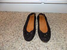 98a70f551a Isabel Marant Alexane Black Suede Star Embellished Ballet Flats in Size  39/US 9