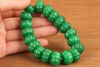 Chinese natural jade jadeite bead statue netsuke bracelet noble exquisite gift