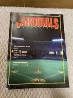 MLB St Louis Cardinals Magazine Winter 1992-1993 Busch Ozzie Tewksbury Lankford