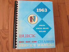 1963 Buick Special, Skylark, Special Deluxe Chassis  Service Manual