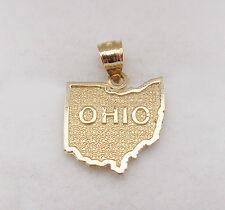 Men's Women's 10k Yellow Gold Ohio State Map Charm Ohio State Pendant