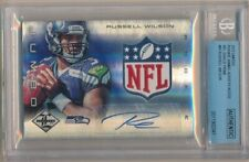 RUSSELL WILSON 2012 LIMITED RC ROOKIE AUTOGRAPH NFL SHIELD LOGO PATCH AUTO 1/1