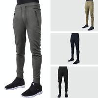 Mens Casual Pants Fleece Jogger Hip Hop Elastic Sports Slim Fit Stretch Trousers