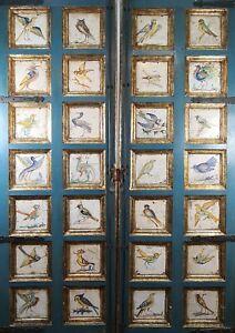 DOORS DECORATED WITH 28 TILES. CATALAN CERAMICS. GABARRO. XIX-XX CENTURY.