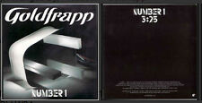 Goldfrapp	Number 1 promo 1-track CARD SLEEVE	CD SINGLE	Mute ‎– RCDMute351