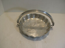 Trade Continental Mark Hand Wrought SilverLook Aluminum Floral Tray w/Handle#812
